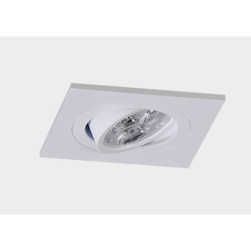 Foco empotrable LED 8w Sharp cuadrado blanco basculante