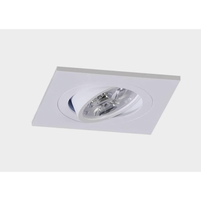 Square recessed light LED 8w white aluminium