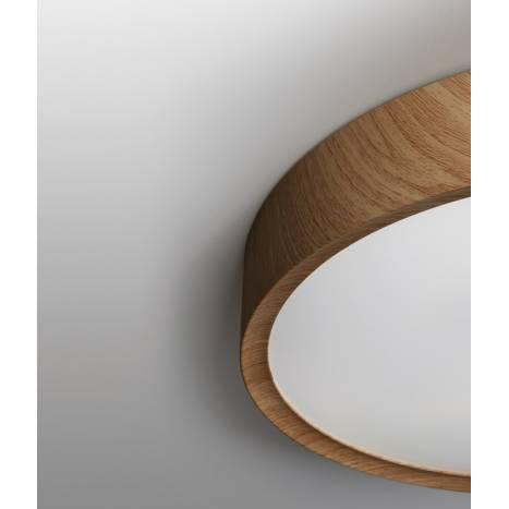Plafón de techo Asli App LED + mando madera detalle - MDC