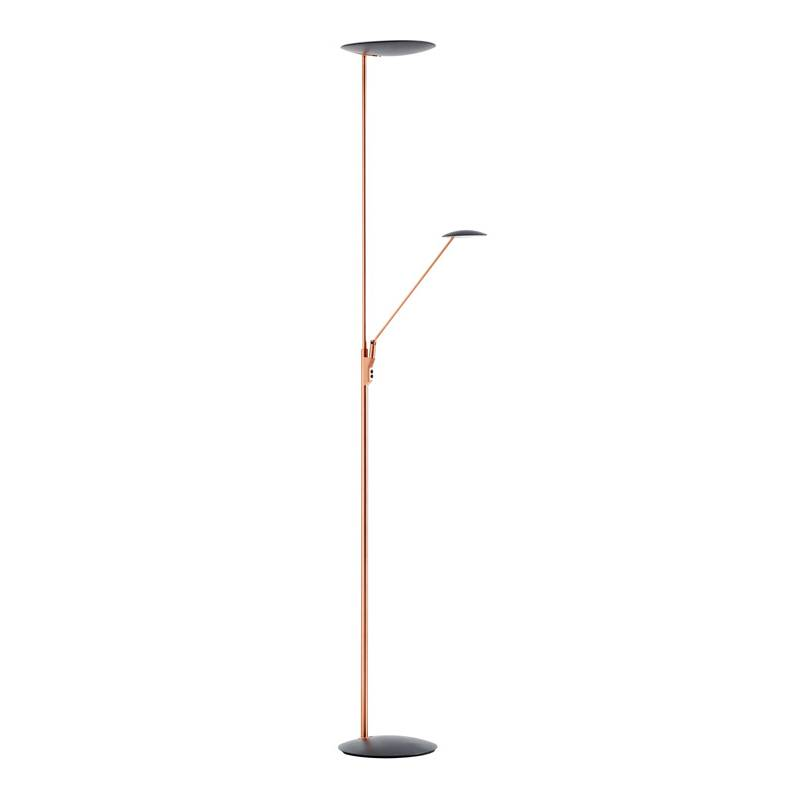 MDC Sione LED 30+7w dimmable copper floor lamp