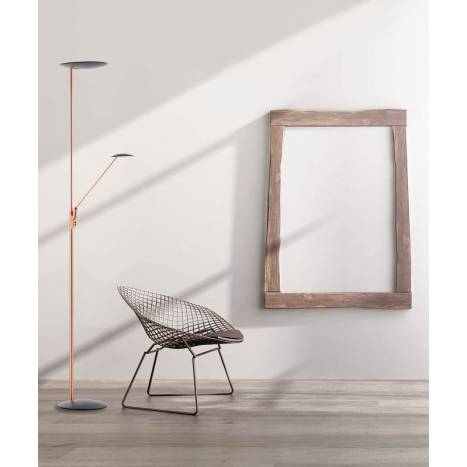 MDC Sione LED 30+7w dimmable copper floor lamp ambient