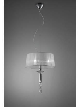 Lampara colgante Tiffany 1 pantalla 46cm cromo de Mantra