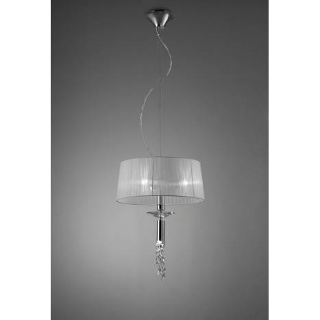 Mantra Tiffany pendant lamp 46cm chrome