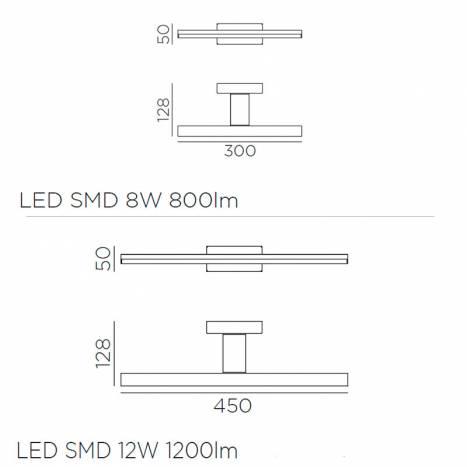 MDC Tiwall LED 8w/12w IP44 black bathroom wall lamp info