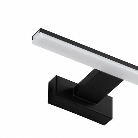 MDC Tiwall LED 8w IP44 black bathroom wall lamp detail