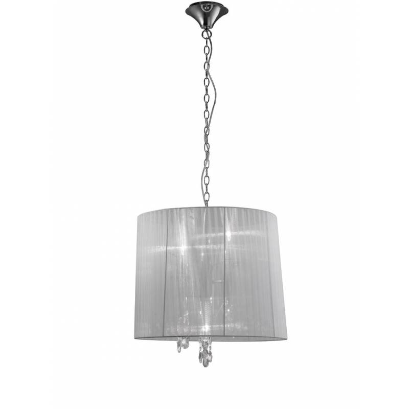 Mantra tiffany pendant lamp 50cm chrome aloadofball Image collections