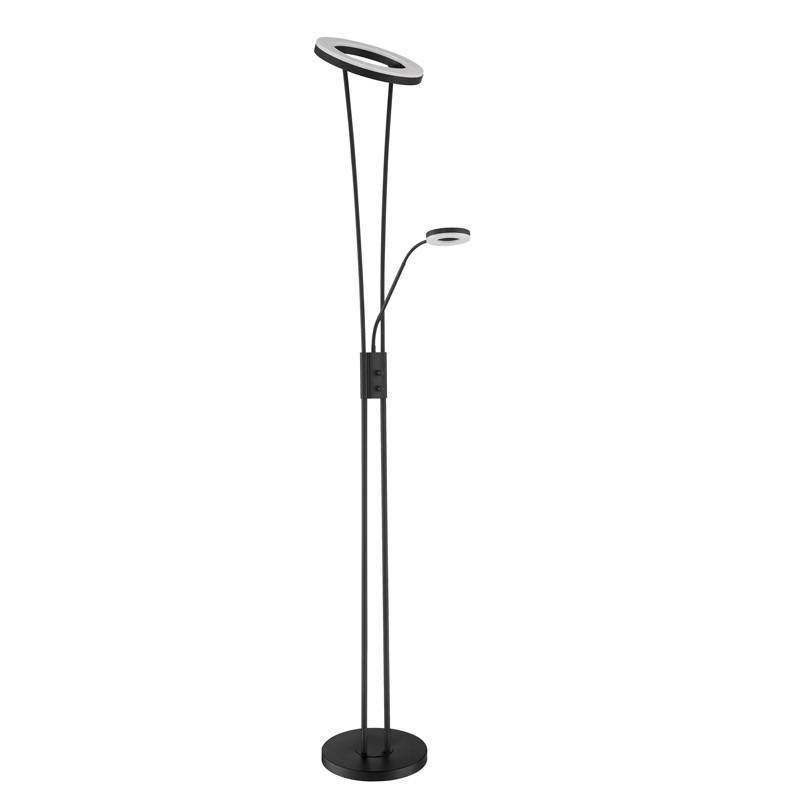 MDC Anello LED 30 + 5w dimmable black reading lamp