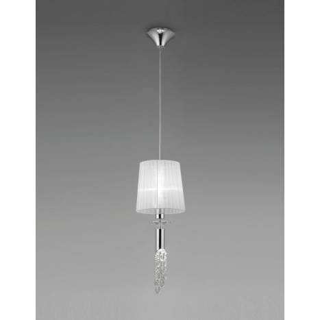 Mantra Tiffany pendant lamp 23cm chrome