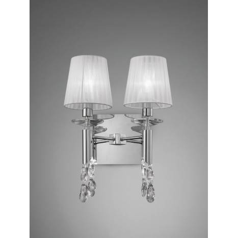 Mantra Tiffany wall lamp 2 lampshade chrome