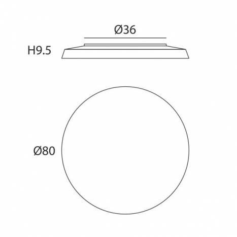 Plafón de techo Plane 80cm LED 40w info tela - Ole
