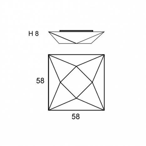 Lámpara de techo Polaris 58cm 4L E27 info - Ole