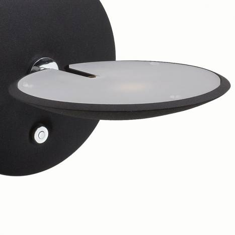 MDC Sione LED 7w black chrome detail wall lamp