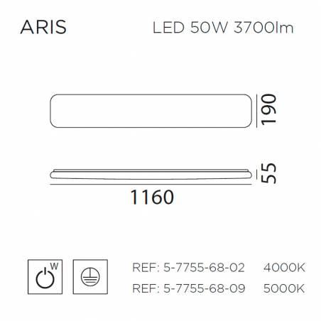 Plafón de techo Aris LED 50w info - MDC