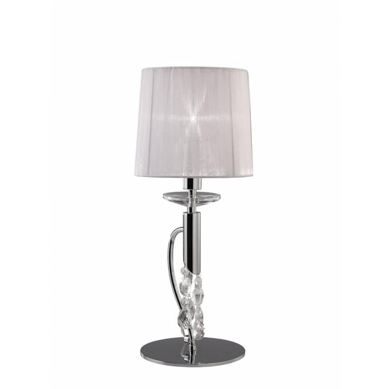 Lampara de mesa Tiffany 1 pantalla cromo de Mantra