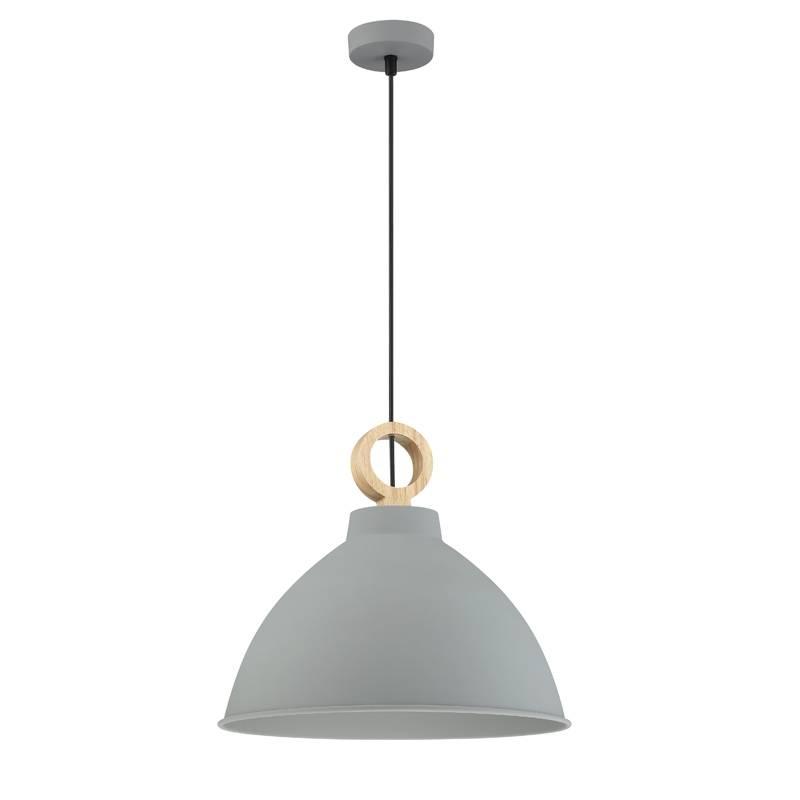 Lámpara colgante Aroa E27 gris madera - MDC