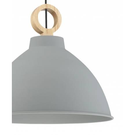 Lámpara colgante Aroa E27 gris madera - MDC detalle