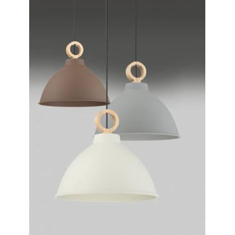 Lámpara colgante Aroa E27 madera modelos ambiente - MDC