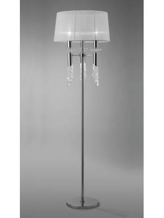 Lampara de pie Tiffany 1 pantalla cromo de Mantra