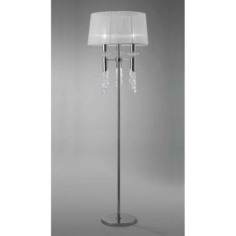 Mantra Tiffany table lamp 1 lampshade chrome