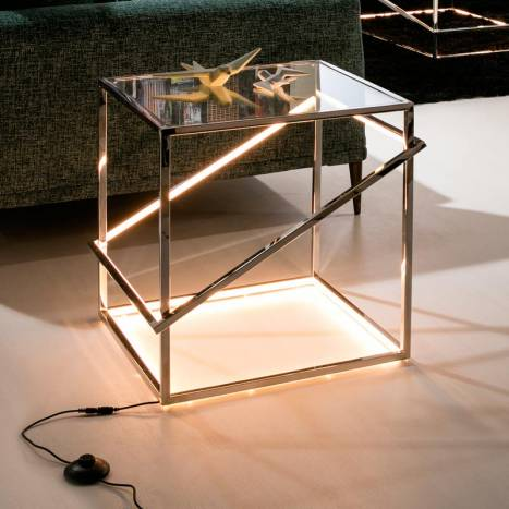 SCHULLER Moonlight LED 18w steel side table detail