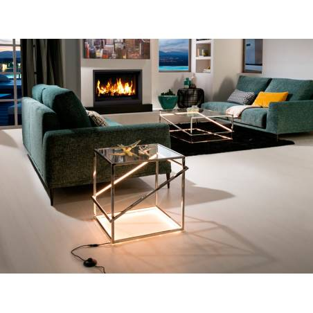 SCHULLER Moonlight LED 18w steel side table ambient