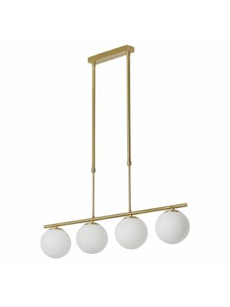 MDC Ronda E27 glass gold satin ceiling lamp
