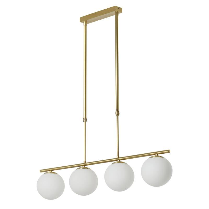 MDC Ronda E27 glass gold satin ceiling lamp