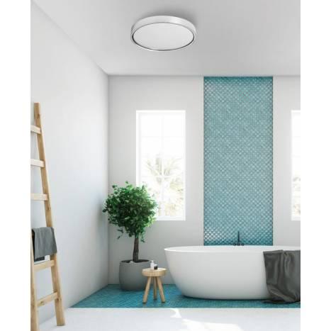 MDC Asli IP44 LED 24w gloss chrome ceiling lamp ambient