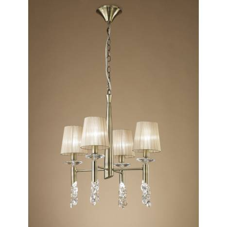 Mantra Tiffany pendant lamp 4L leather