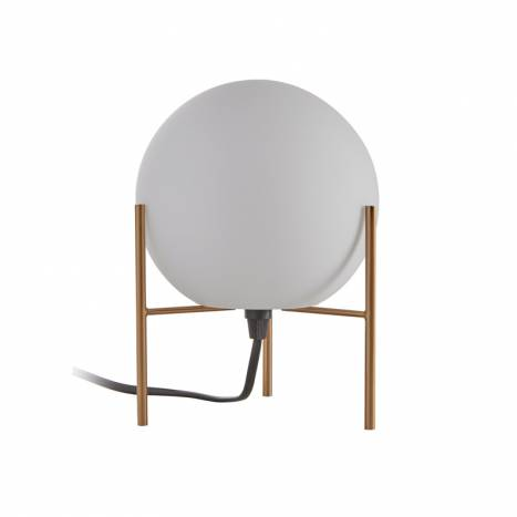 MDC Neil E27 glass gold table lamp