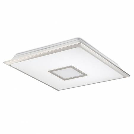 MDC Nila LED 40w + remote control matt chrome ceiling lamp