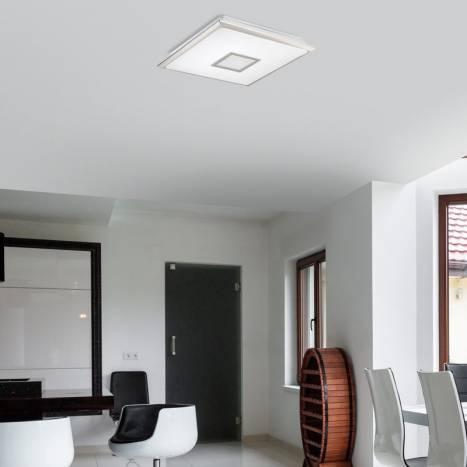 MDC Nila LED 40w + remote control matt chrome ceiling lamp ambient