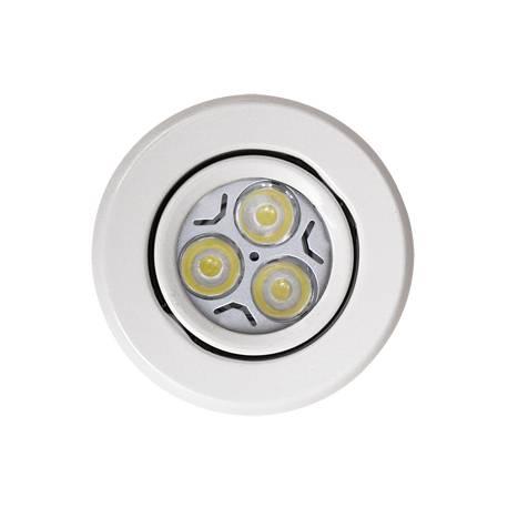 Foco empotrable LED 6w zamak blanco circular