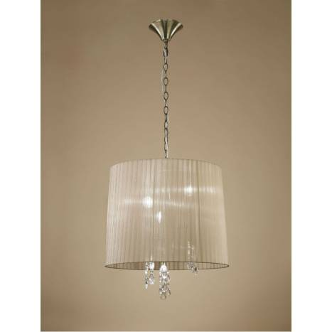 Mantra Tiffany pendant lamp 50cm leather