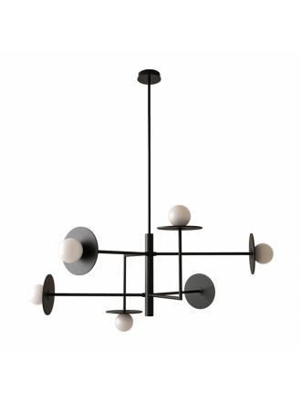 Aromas Miro 6L G9 black pendant lamp