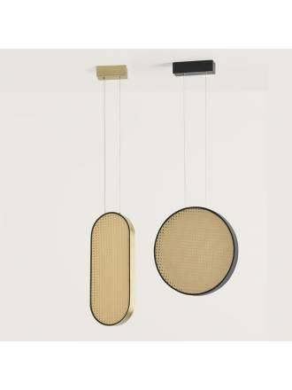 Lámpara colgante Tant LED ratán - Aromas
