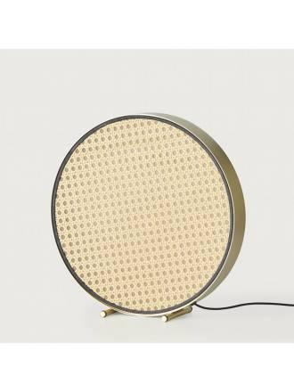 Lámpara de mesa Tant LED ratán oro - Aromas