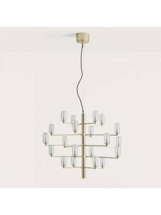 Lámpara colgante Gand LED 20L oro transparente - Aromas
