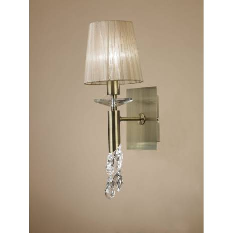 Mantra Tiffany wall lamp 1L leather