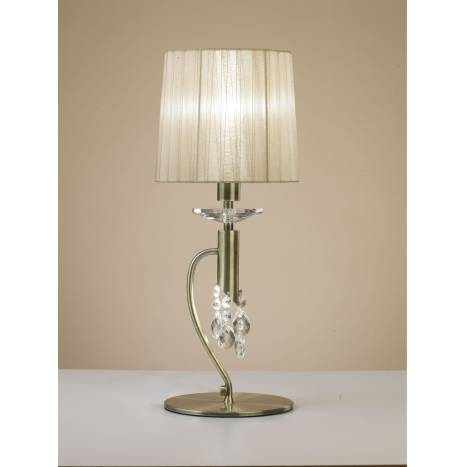 Mantra Tiffany table lamp 1 shade leather