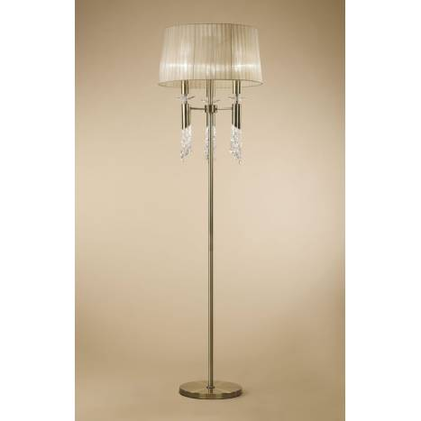 Mantra Tiffany floor lamp 1 shade leather