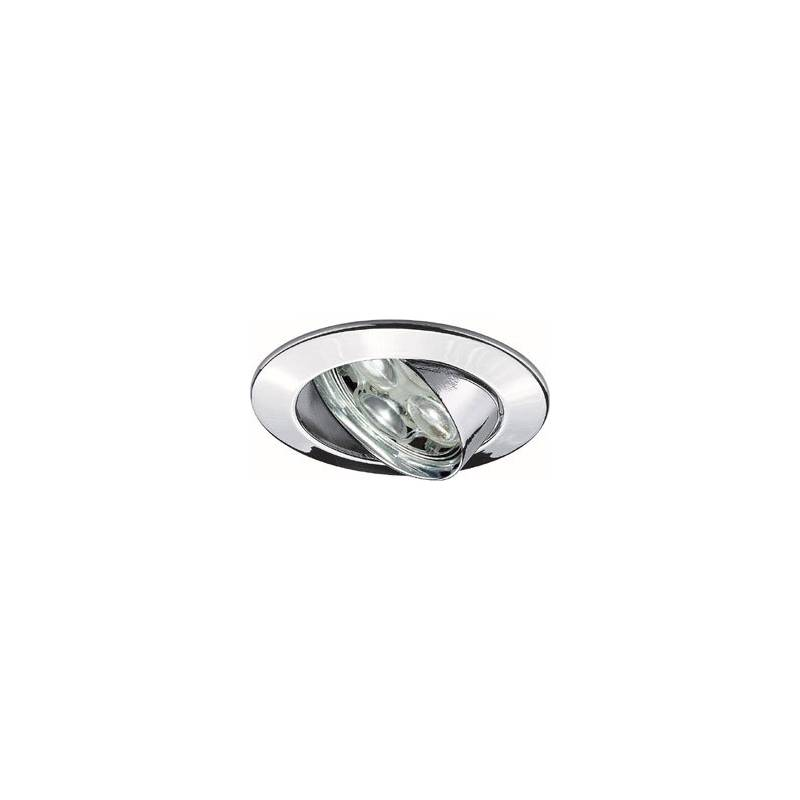 Foco empotrable LED 6w zamak cromo circular