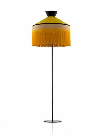 Lámpara de pie Pamela 1L E27 saco oro - Ilusoria