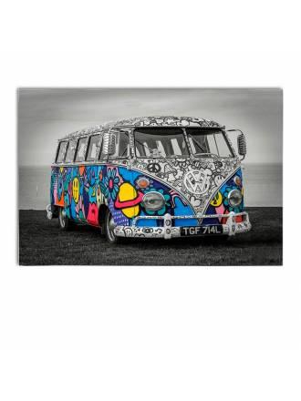 Fotografía impresa Hippie 120x80 cristal - Schuller