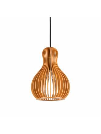 Lámpara colgante Citrus E27 159867 madera - Ideal Lux
