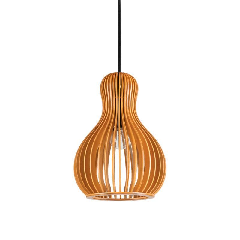 IDEAL LUX Citrus E27 159867 wood pendant lamp