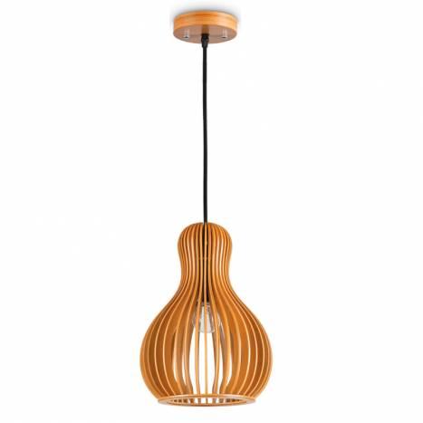 IDEAL LUX Citrus E27 159867 wood pendant lamp 1