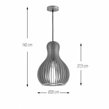 IDEAL LUX Citrus E27 159867 wood pendant lamp info