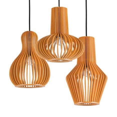 IDEAL LUX Citrus E27 models wood pendant lamp