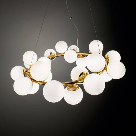IDEAL LUX Dna 15L G9 glass pendant lamp 1